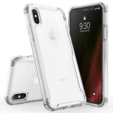 Dual Layered Injet Shockproof Case Clear Back Cover+Tempered Glass for iPhone X