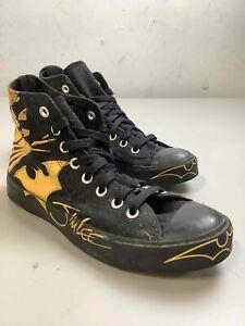 Men Black/Yellow Converse Batman Sneaker, Sz. 7