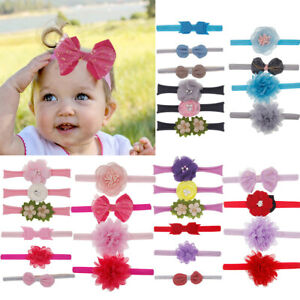 10Pcs Kids Cute Floral Headband Hair Accessories Girls baby Bowknot Hairband Set