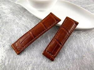 Genuine Alligator skin Band Strap Bracelet (FITS) Rolex Daytona Brown or Black