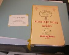 1950 Moore McCormack SS Uruguay Cruise Ship Menu International College Surgeons