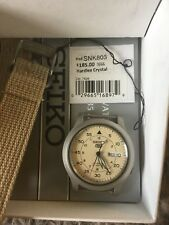 Seiko 5 Automatic Military Style Beige Watch SNK803K2