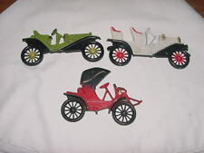 Set Of 3 Vintage Midwest Cast Metal Car Auto Wall Plaques 4 Your Home Interior