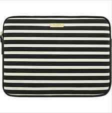 "Genuine Kate Spade New York - 13"" MacBook Printed Sleeve - Black/Cream - VG"