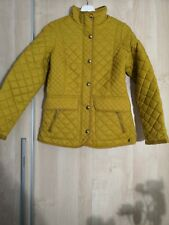 New Joules Quilted Caramel Mustard Yellow Jacket size uk 8 New