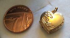 Pretty Ladies Vintage 9ct Gold Heart Locket Pendant Very Nice