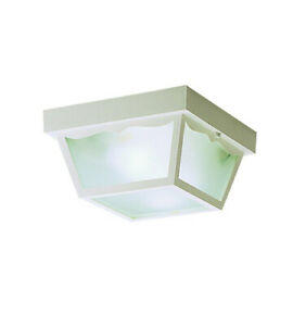 Kichler 9322WH Outdoor Ceiling Fixture 2 Light White