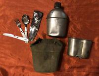 WW2 Canteen 1945 Canteen Cup 1944 Cover Silverware