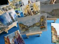 Stunning Set of 12 NEW Venice Postcards 312gsm Fine Art Prints, Abstract, Canal