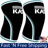 1 PAIR - KASP 7mm Blue Knee Sleeves Neoprene CrossFit Weightlifting - USA SELLER