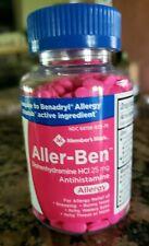 Member's Mark Diphenhydramine HCL 25mg Antihistamine Allergy Relief 600 Tablets
