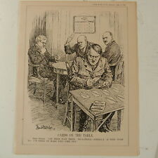 "7x10 ""PUNCH CARTOON 1935 carte in tavola Hitler / tri-lateral contratto"