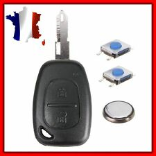 Key Remote Shell Housing Renault Movano +2 Switches+Battery+Key Blanc