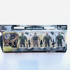 Elite Force Army Rangers K9 Set 5 Figures Guns Dog Hans Bull Scopes Smoke Brass