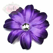 Large Lily Flower Hair Clips Grips. Bridal Bridesmaids Wedding Accessory