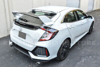 Type-R Style PRIMER BLACK Rear Lid Wing Spoiler For 16-Up Honda Civic Hatchback