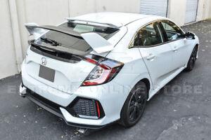 Type-R Style PRIMER BLACK Rear Lid Wing Spoiler For 16-Up Honda Civic Hatchback