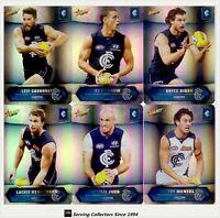 2015 AFL Champions Trading Card Silver Foil Parallel Team Set Carlton (12)