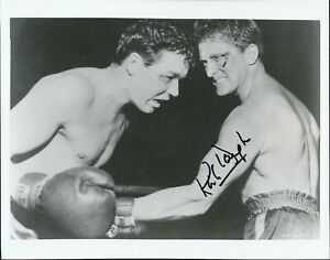 Kirk Douglas signed boxing photo. Spartacus.