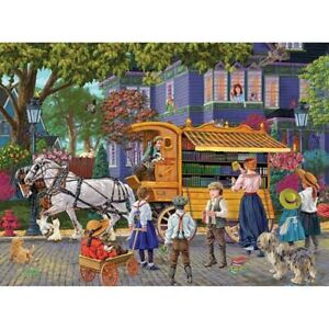 "Book Mobile by Joseph Burgess 1000 pc Puzzle Bits and Pieces COMPLETE 20"" x 27"""