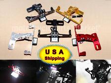 Motorcycle CNC License Plate Holder Bracket LED Fender Eliminator Tail Light USA