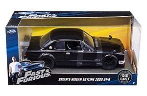 Jada Nissan Skyline 2000 GT-R Black Fast and Furious 99686 1/24 Scale