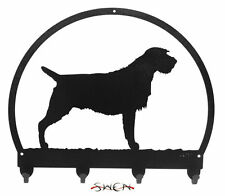 Swen Products Wirehaired Pointing Griffon Black Metal Key Chain Holder Hanger