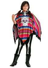 Girl's Day of the Dead Poncho Costume