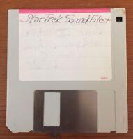 Vintage 1990s Star Trek Sound Files 3.5 Floppy Disk For Macintosh Mac Computers
