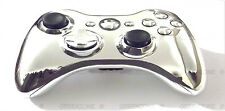 Replacement Chrome Silver Controller Shell + Buttons Mod Kit for Xbox 360