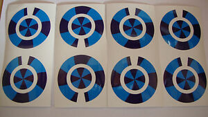 16 BLUE AND BLUE  CROWN GREEN BOWLS STICKERS LAWN BOWLS  8 FINGER 8 THUMB