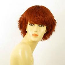 perruque femme 100% cheveux naturel courte cuivré intense ref AUDE 130
