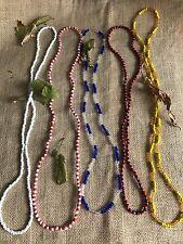 Set 5  Collares,Necklace  Obatala- Yemaya- Shango- Elegua- Oshun Yoruba Ifa Elek