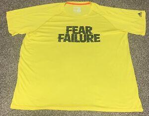 Adidas Refresh Tee Climalite Short Sleeve Yellow Mens XXLT 2XLT Fear Failure