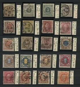 CLASSIC SWEDEN Lot of 27 Stamps Used CV€110.65