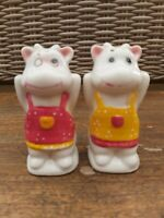 Vintage Salt & Pepper Ceramic Novelty Set  Salt & Pepper - Cows Moomins possibly