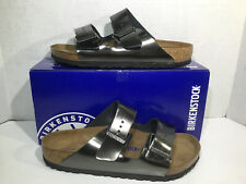 Birkenstock Womens Size 8 EU 39 Arizona Metallic Anthracite Sandals ZB5-2225