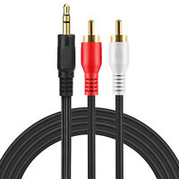RCA Splitter Audio Cable 3.5mm to 2 RCA HiFi Stereo AUX Cable for iPhone MP3 LOT