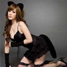 Sweet Bunny Cat Girls Women Sexy Bubble Skirt Halloween Costume Lingerie Set