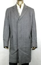 $3850 Gucci Men's Grey Knit Cashmere Molten Coating Long Coat 60R 347334 1573