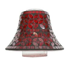 Red Lustre Mosaic Candle Jar Lamp Shade G23689