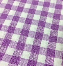 One Metre Of Cotton Lilac Gingham Fabric