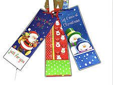 PACK OF 3 ASSORTED CHRISTMAS GIFT BAGS SANTA XMAS PAPER SNOWMAN BAG BOTTLE SIZE