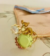 Les Néréides Paris Fawn Ring Green Marble & CZ.Gold Plated. Adjustable  P 1/2