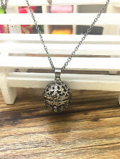 Perfume Fragrance Essential Oil Aromatherapy Diffuser cage Locket Necklace WT113