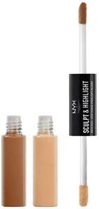 NYX Sculpt & Highlight Face Duo Cream Contour Almond/Light, boxed