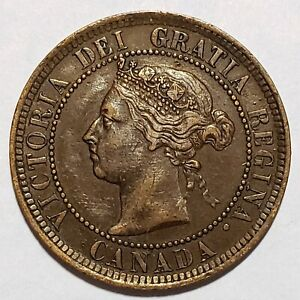 Rare 1886 Canada Large Cent KM# 7 Extremely Fine No Reserve!