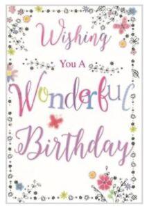 Open Female Birthday Card ~ Birthday Script By Card Essentials ~ Free P&P