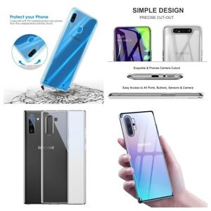 Clear Gel Back Case Silicone Slim Protector Cover iPhone 12, Samsung S20 Huwaei