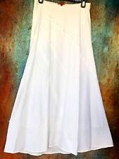 SHAMASK Size 1 Small Asymmetric White Linen Maxi Skirt Elastic Waist $800 SAKS